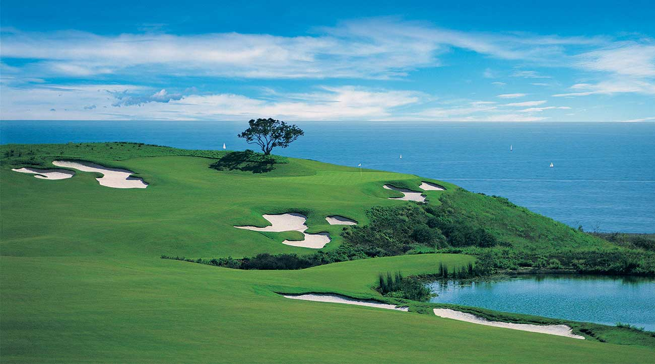 The 17th hole of the Ocean North Course at The Resort at Pelican Hill.