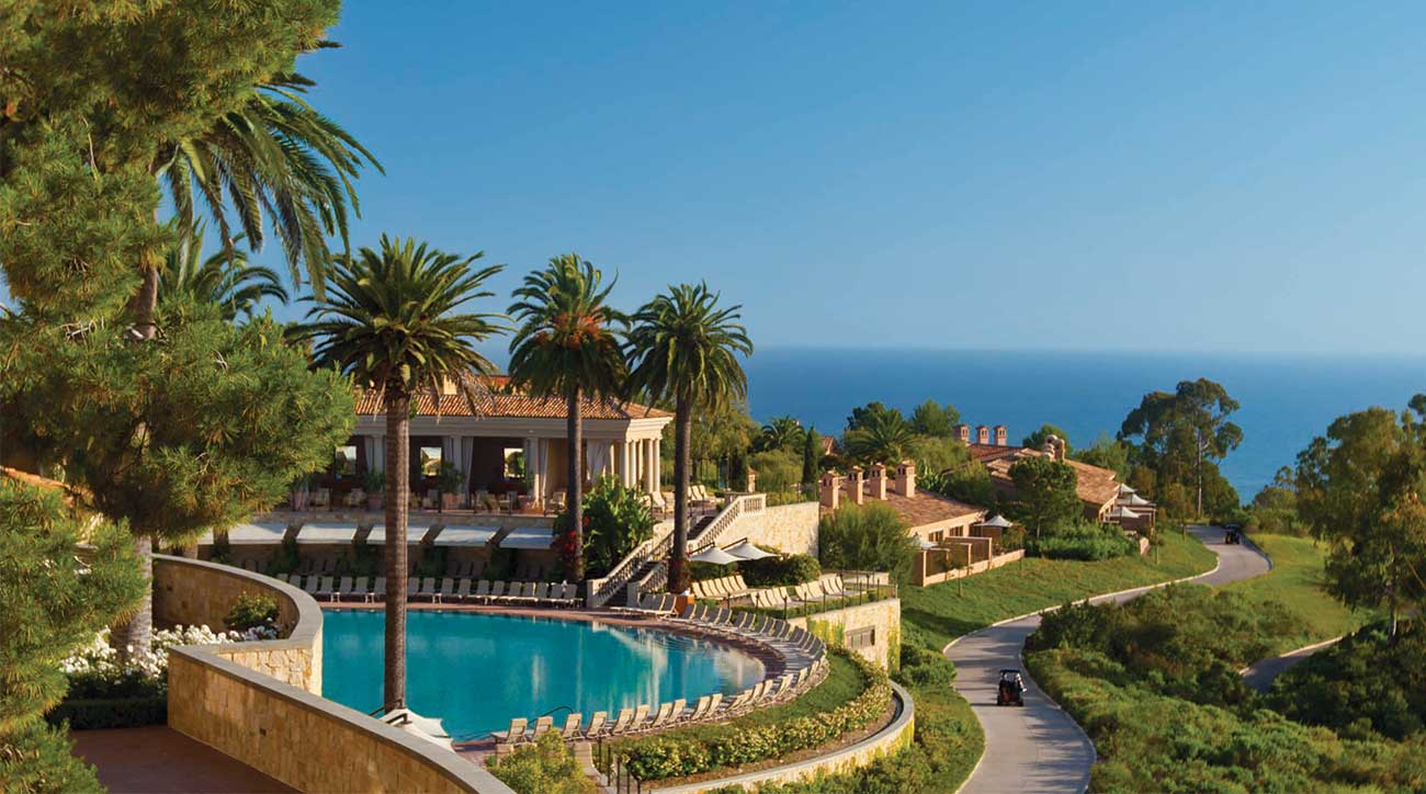The coliseum pool at The Resort at Pelican Hill has gorgeous ocean views.