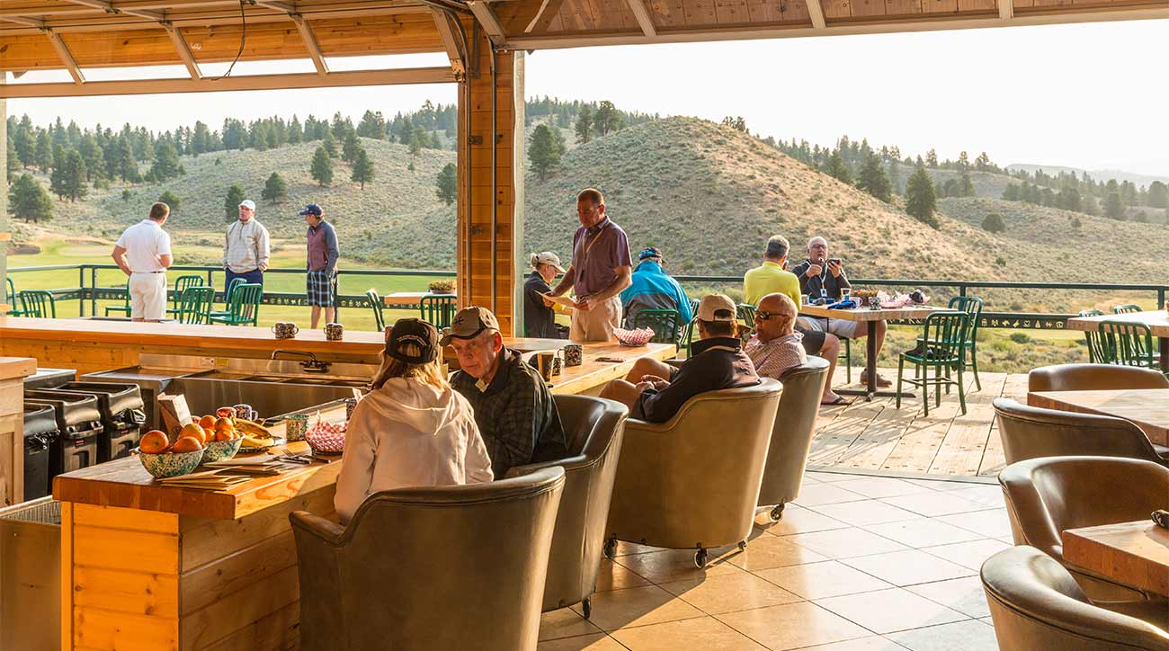 A view of one of the bars at The Retreat, Links and Spa at Silvies Valley Ranch.