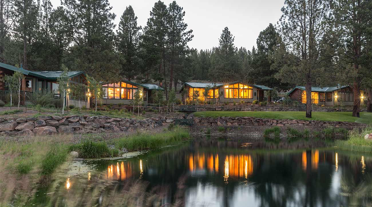 A view of some of the cabins at The Retreat, Links and Spa at Silvies Valley Ranch.