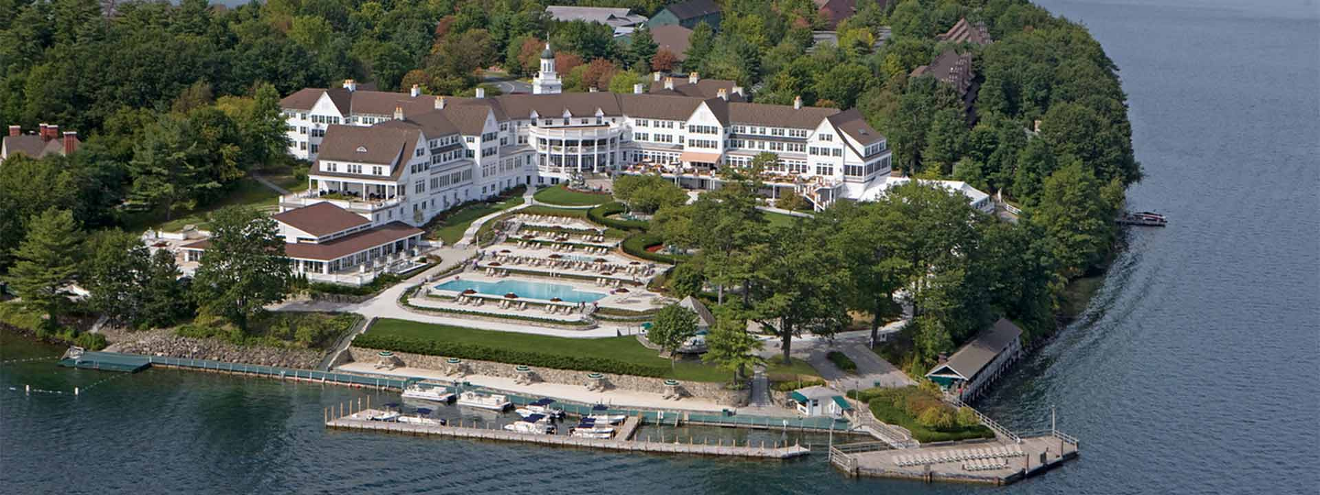 A view of The Sagamore Resort in New York.