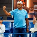 Tiger Woods, son Charlie, girlfriend Erica Herman at US Open