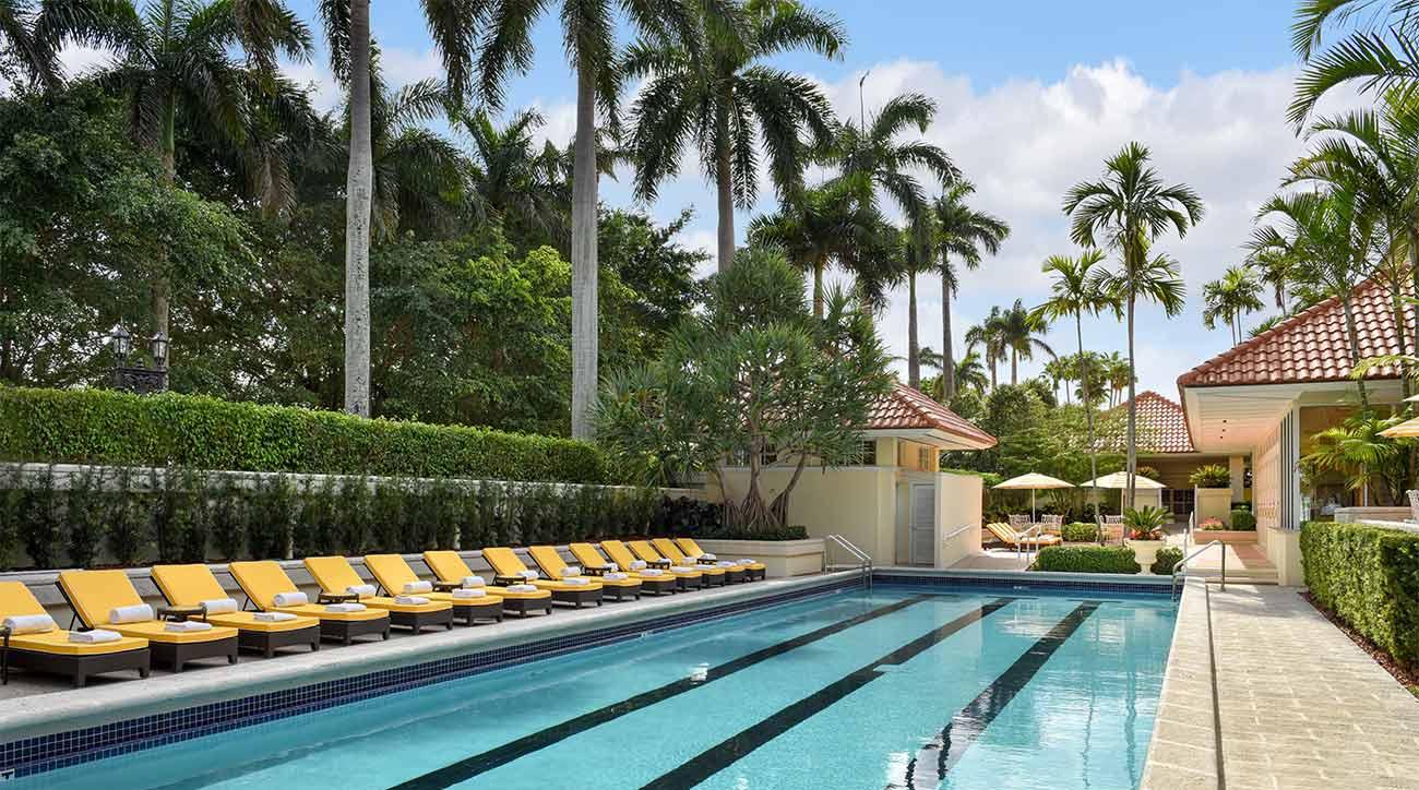Poolside at Trump National Doral Miami.