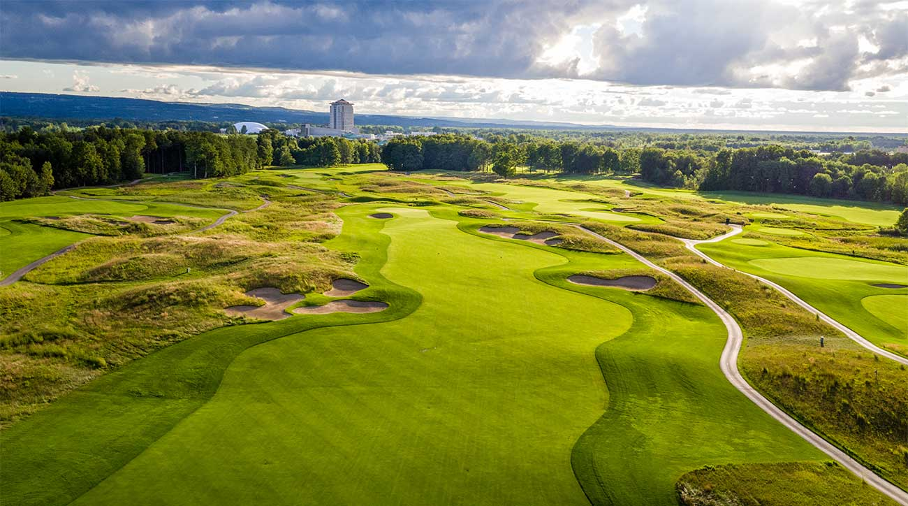 A view of one of the golf courses at Turning Stone Resort & Casino in Verona, N.Y.