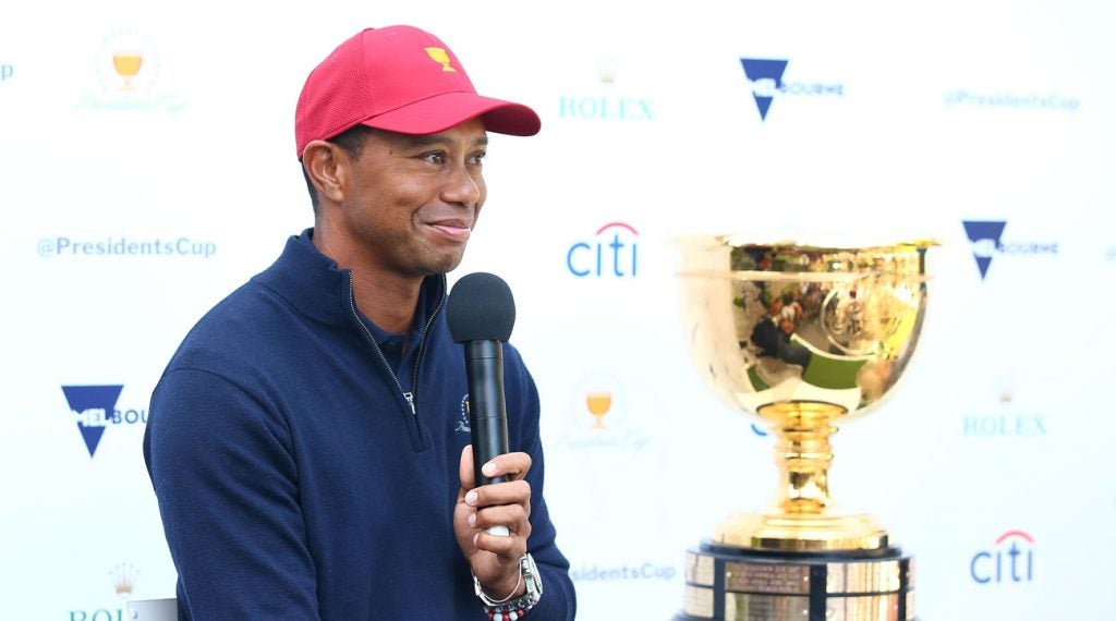 Tiger Woods will captain the American team in Australia, but will he play, too?