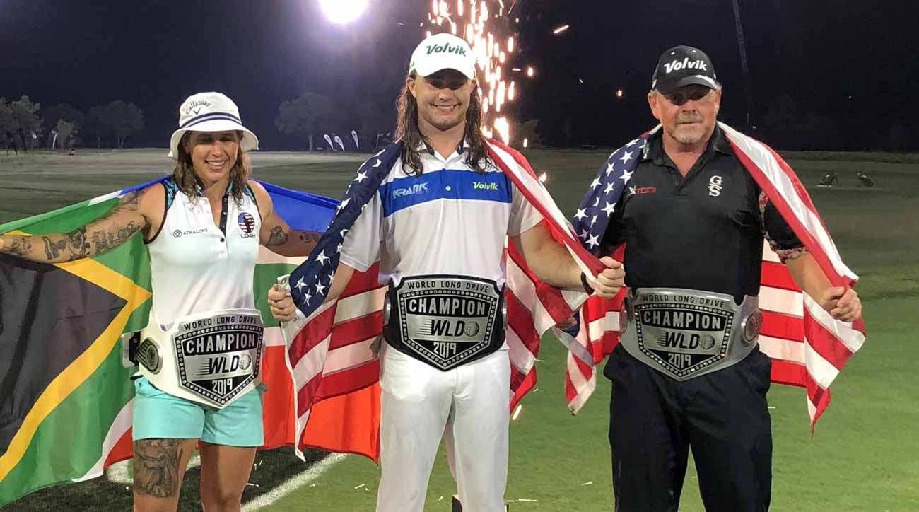 World Long Drive Champions Kyle Berkshire, Chloe Garner