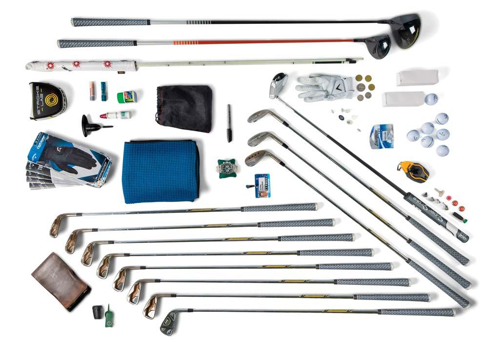 The content of Xander Schauffele's Tour golf bag.