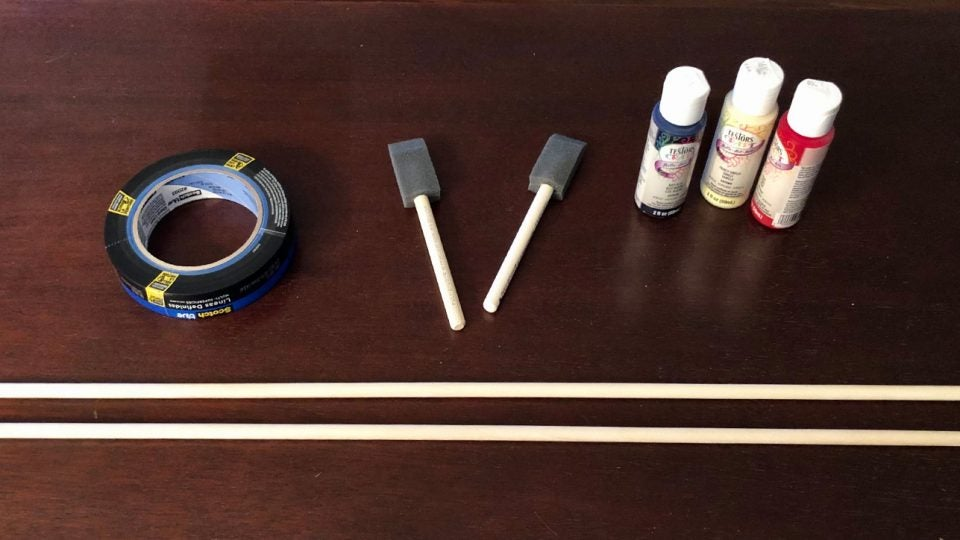 Making your own alignments sticks is easy with the right supplies.