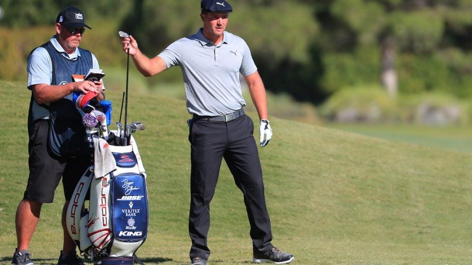 Bryson DeChambeau added LA Golf's Rebar graphite shaft to his Cobra irons.