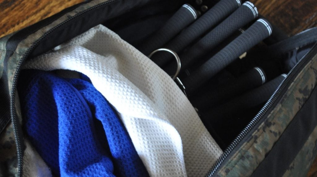 Pad your travel bag with towels to keep things secure.