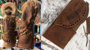 Dormie Workshop's designer deconstructs baseball gloves and turns them into one-of-a-kind headcovers.