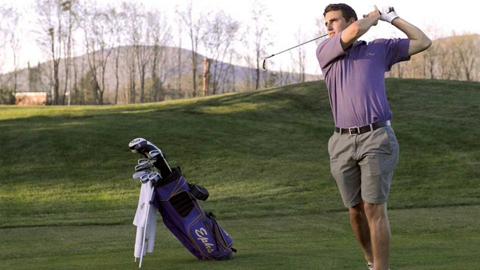 The author/felon in question during a round at Taconic Golf Club, Williams College's home course.