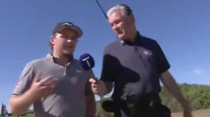 Eddie Pepperell won a particularly entertaining bet during Friday's second round.