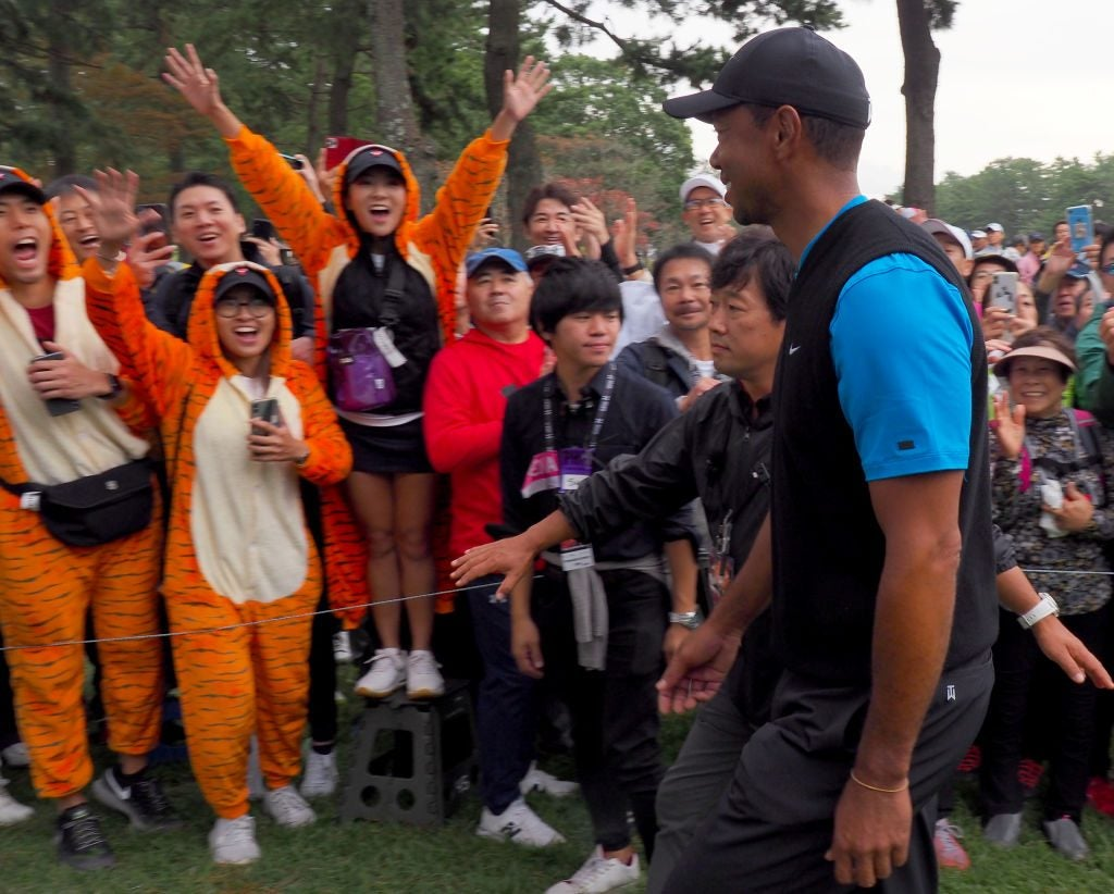 Tiger's fans have been out in full force this week at Narashino Country Club.