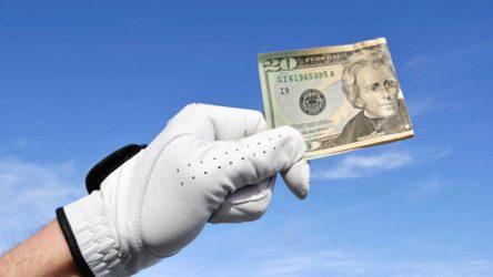 Glove and money
