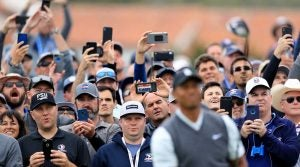 We're guessing Tiger Woods prefers his cell phone cameras to be on silent.
