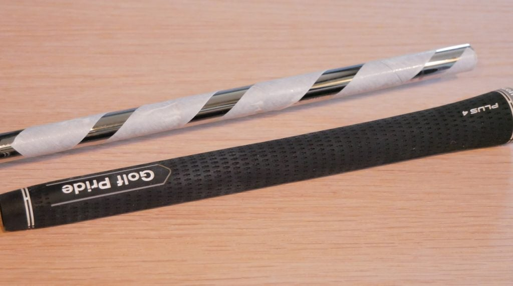 Depending on what your preference is, you may want one or several layers of tape under your grips.