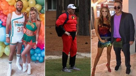 Pros and their families are going all-in for Halloween this year.
