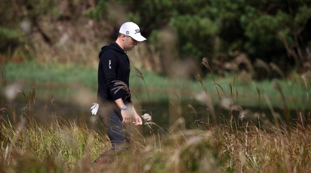 Justin Thomas shares the lead with Danny Lee at the CJ Cup.