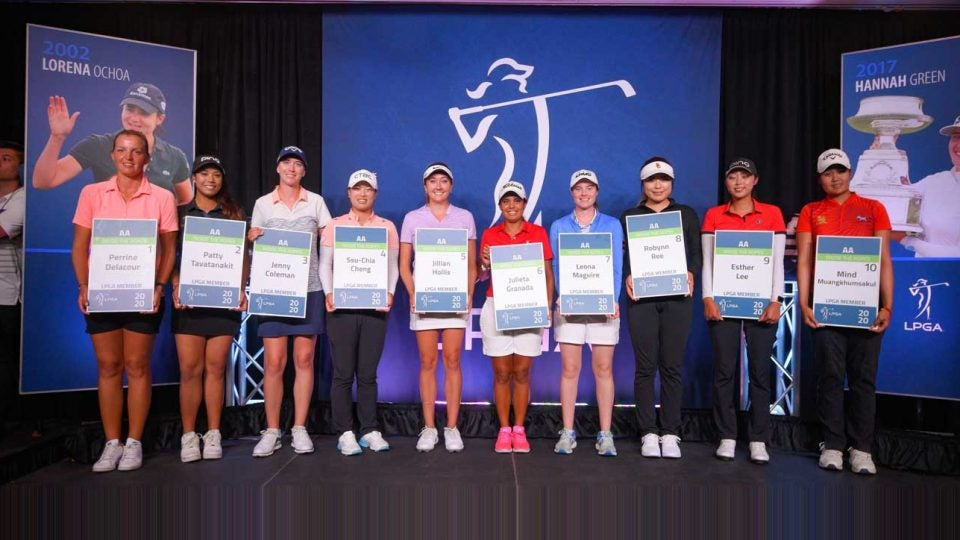 Mind Muangkhumsakul (far right) earned her LPGA Tour card —but not the way she expected.