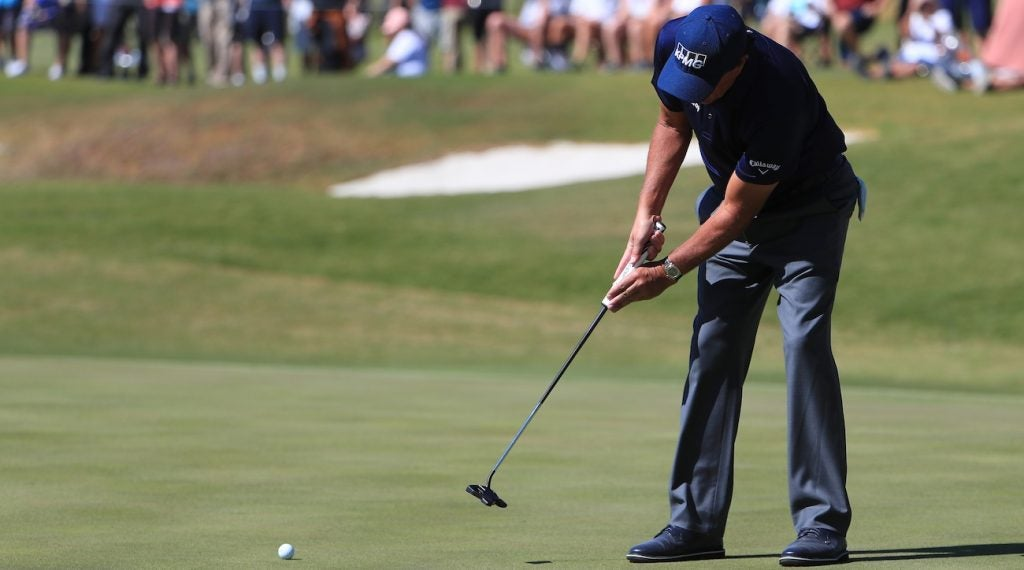Phil Mickelson has rarely employed a mallet putter over the course of his illustrious career.
