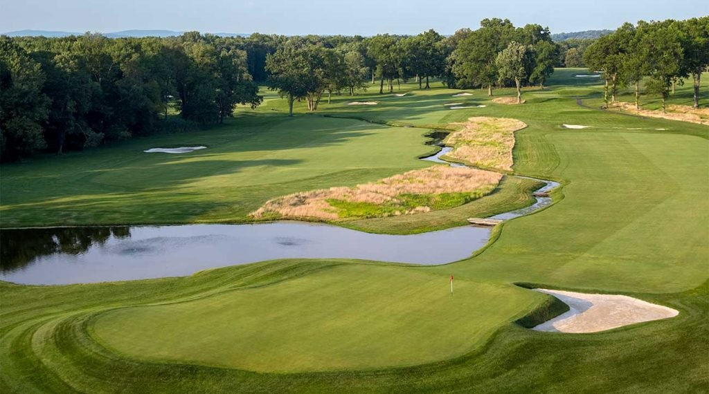 A view of the 13th hole at Mountain Ridge Country Club.