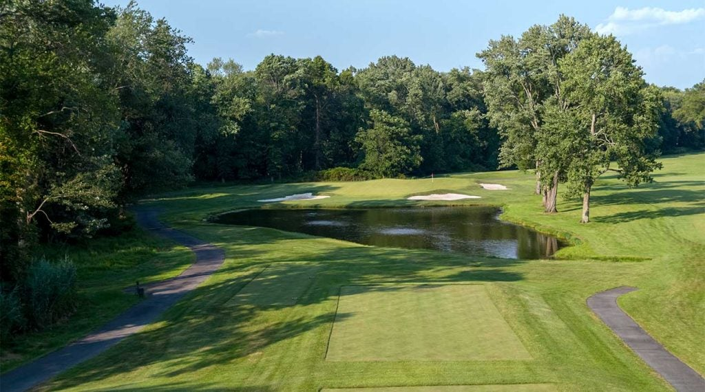 A look at the 16th hole at Mountain Ridge Country Club in New Jersey.