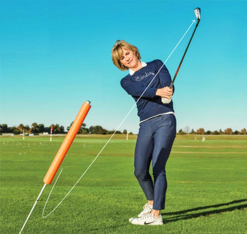 Better players often hit hooks by making the mistake of over-rolling their wrists through impact.