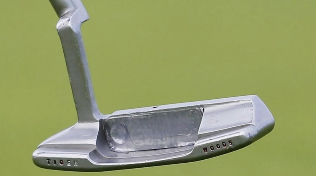 Woods added lead tape to the putter cavity during the Open Championship.