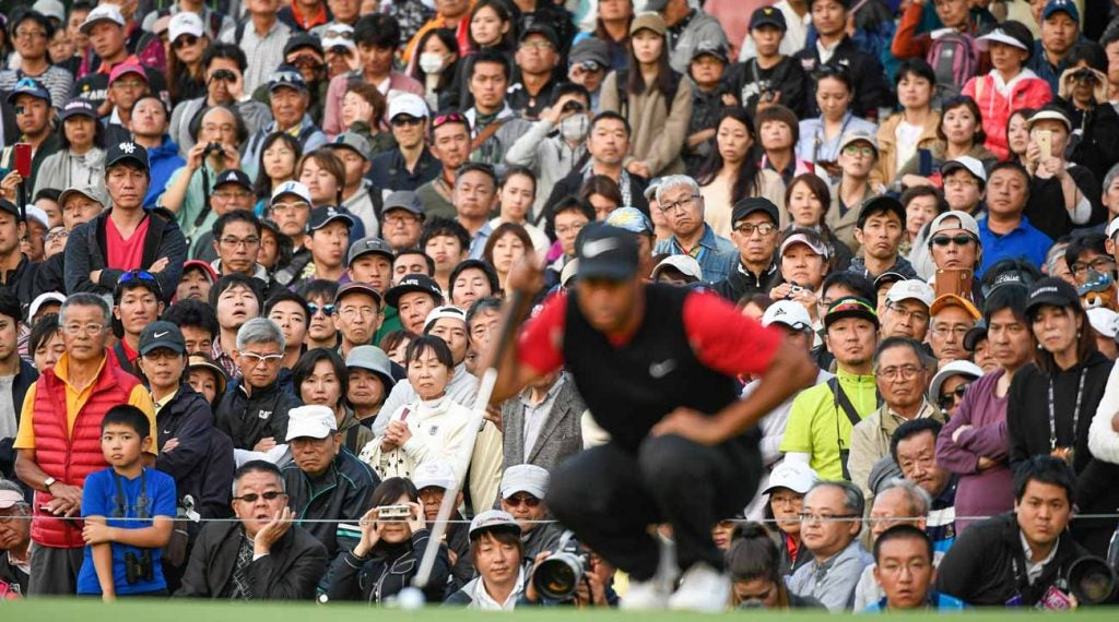 Tiger Woods won No. 82 on Sunday in front of thousands of adoring Japanese fans.