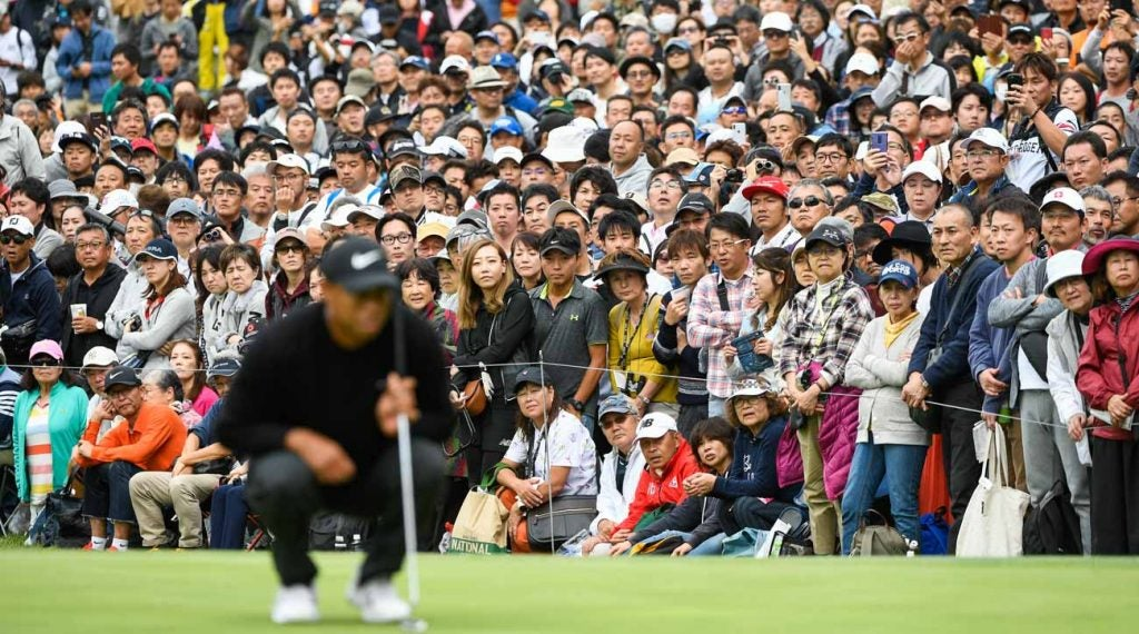 Tiger Woods attracted a massive gallery during Thursday's opening round.