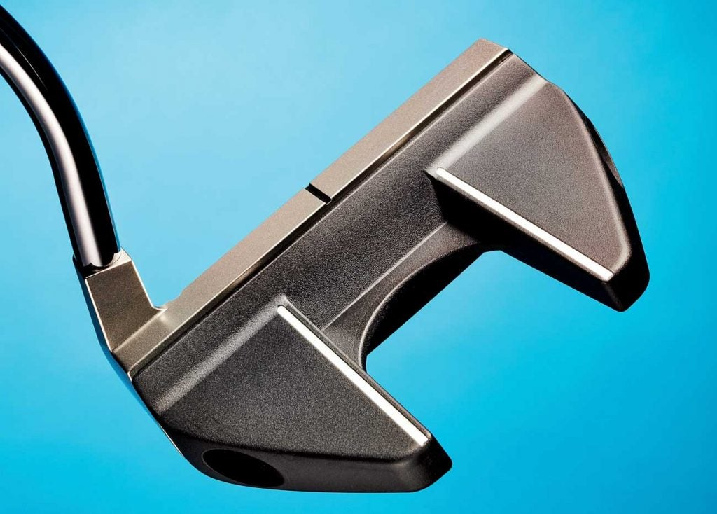 A view of the Axis1 Rose Proto putter from the back.