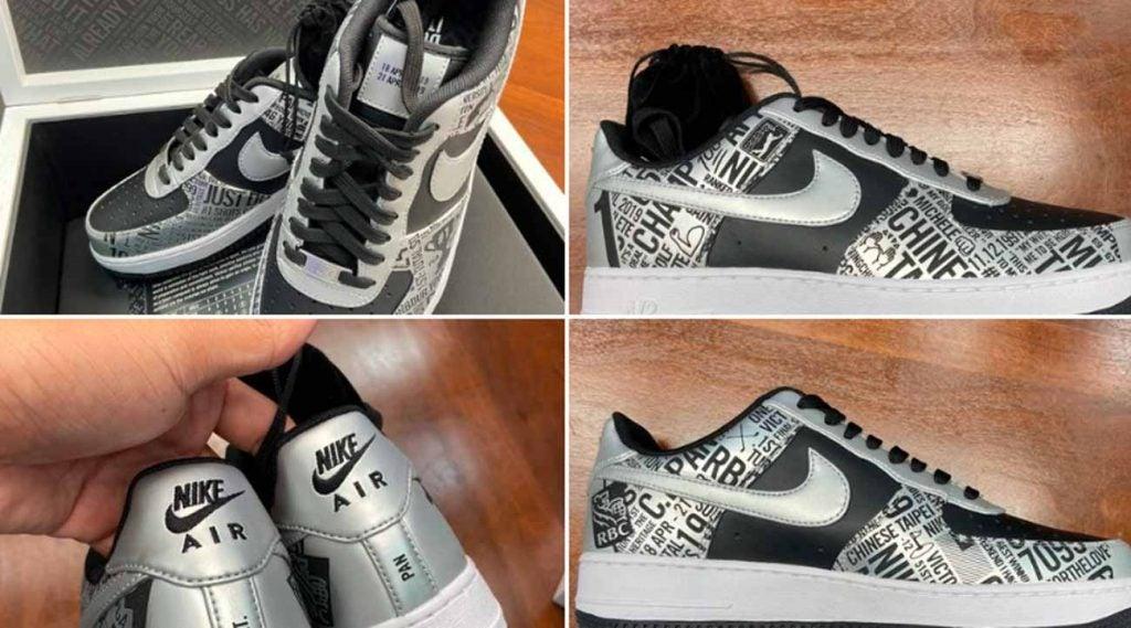 C.T. Pan's custom Nike golf shoes honoring his first PGA Tour win.