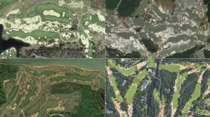 A Google Maps view of some of the best courses in the United States.