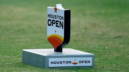 A tee marker at the Houston Open.