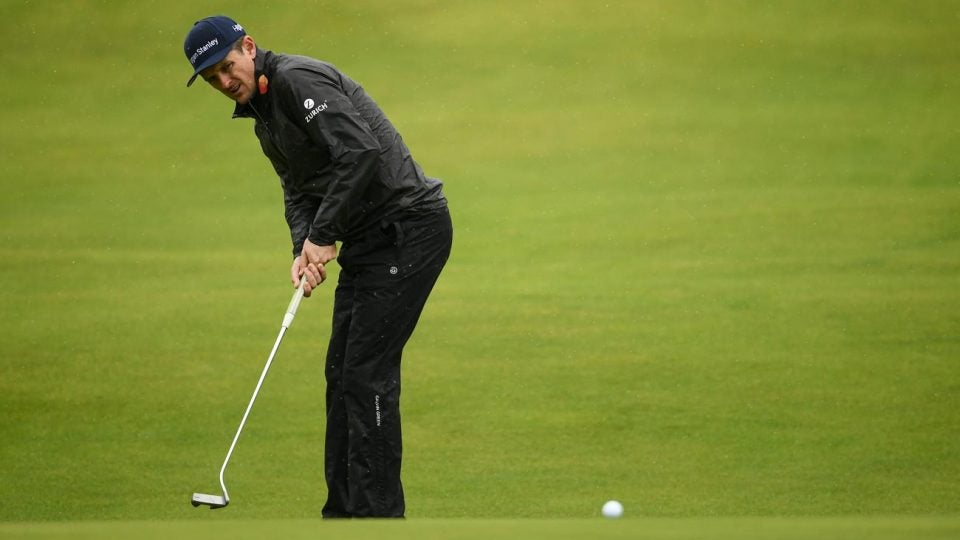 Justin Rose uses his Axis1 putter during the 2019 Open Championship.