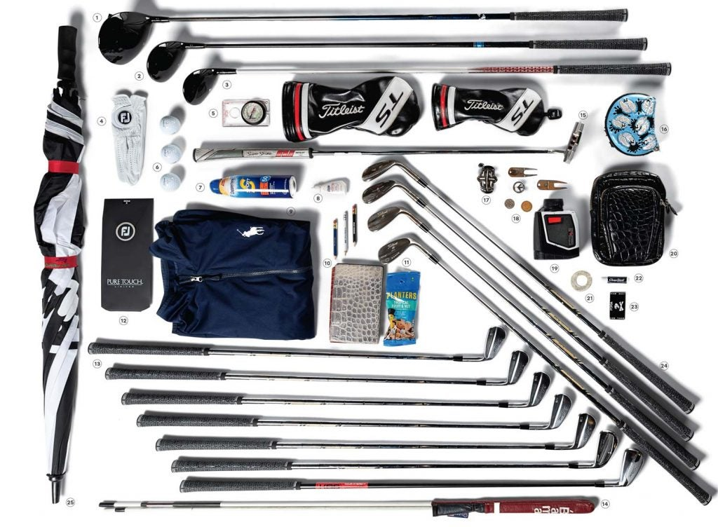 All the contents of Justin Thomas' golf bag on the PGA Tour.