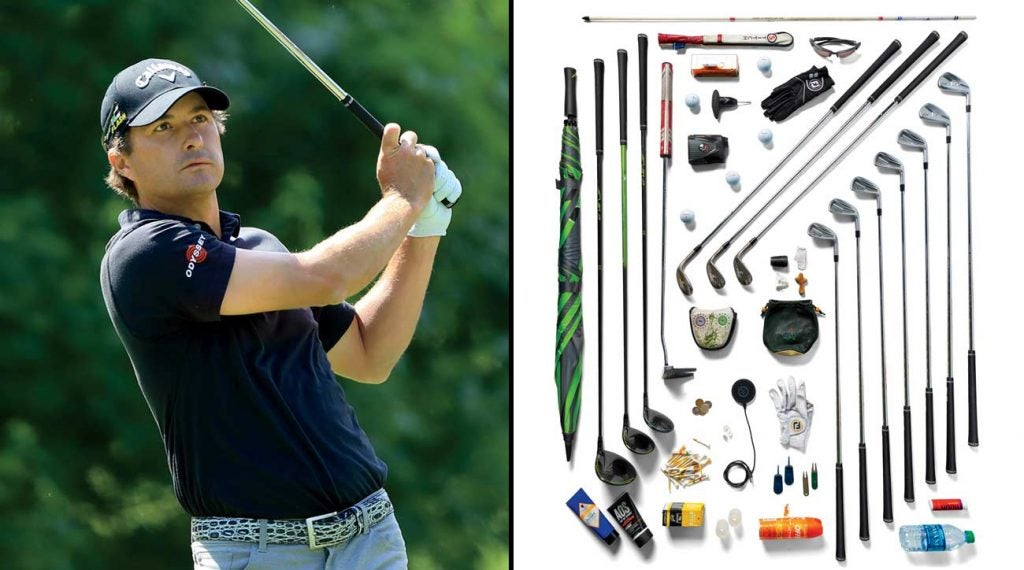 Three-time PGA Tour winner Kevin Kisner has all kinds of stuff in his golf bag