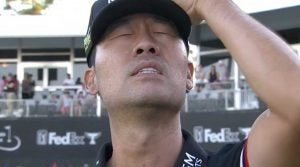 Kevin Na had to take a few seconds to collect his thoughts after his victory in Las Vegas.