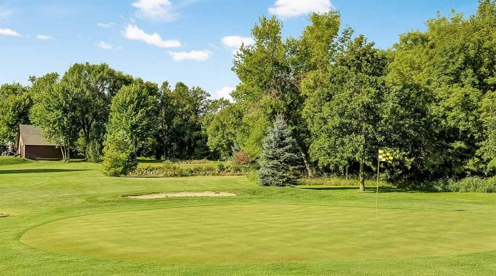 A look at one of the greens at Oak Meadow.