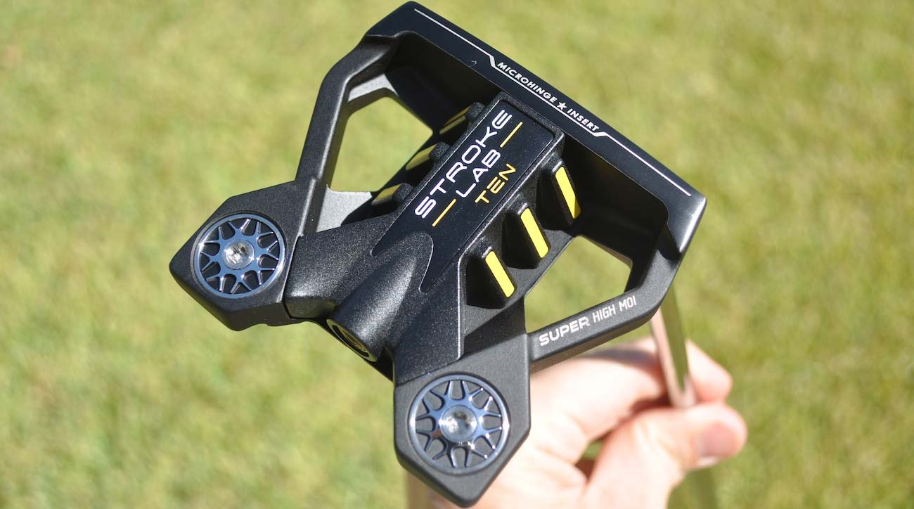Phil Mickelson's putter of choice at the moment is Odyssey's Stroke Lab Ten mallet.