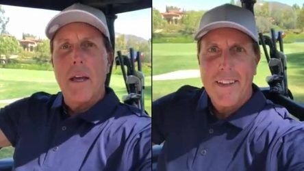 "Phil Mickelson in his latest ""Tribute Tuesday"" video."