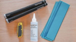 Some of the tools you'll need to regrip your clubs.