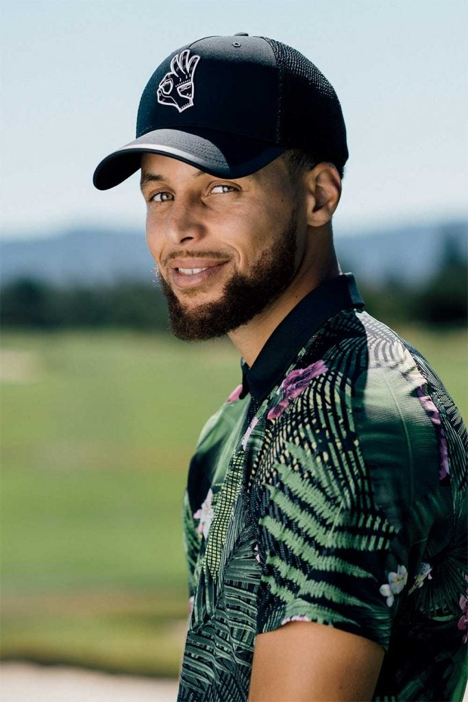 Curry can drain 3s against the NBA's best, but he also has range from the golf course with some monster drives.