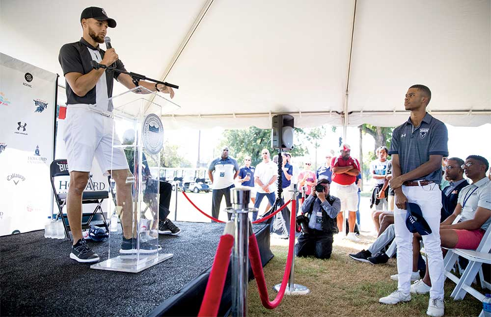 At his Howard University presser, Curry shared the spotlight with young Otis Ferguson