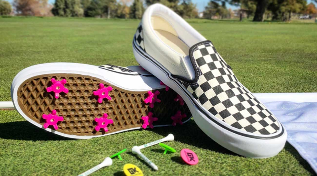 spikes turn ANY shoe into a golf shoe