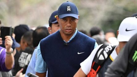 Tiger Woods pictured during the recent Japan Skins Challenge.