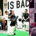 Tiger Woods participates in an exhibition for school children in Japan ahead of the Zozo Championship.