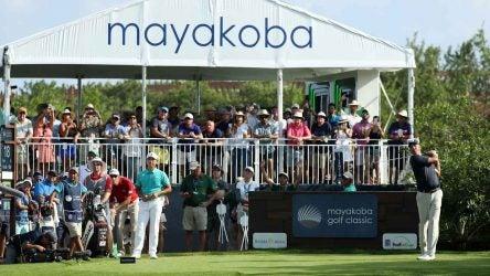 Matt Kuchar tees off during the final round of last year's Mayakoba Golf Classic.