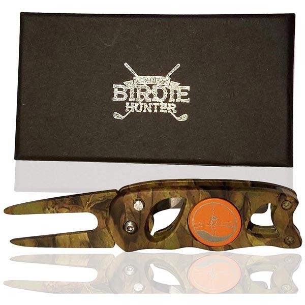 Birdie Hunter Camouflage golf divot repair tool